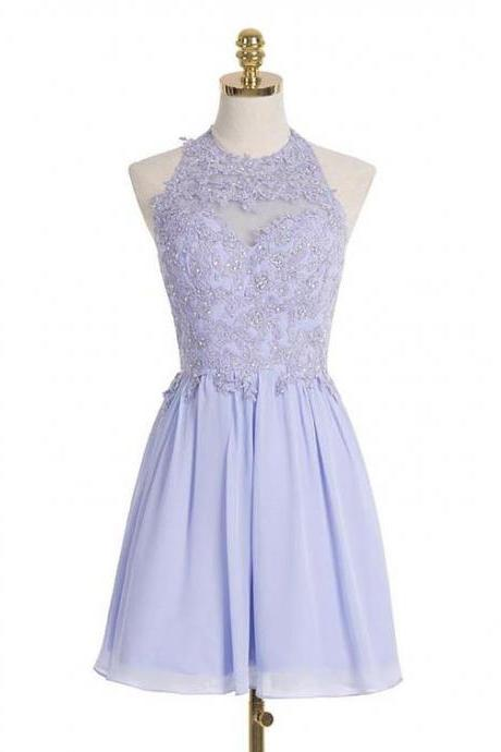 2017 homecoming dress, lilac homecoming dress, short homecoming dress,52009