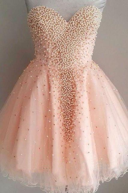 Pretty Homecoming Dresses,Beading Homecoming Dress,Girly Short Prom Dresses,53029