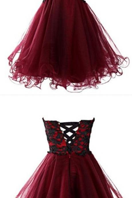Sweetheart Pretty Lace A-Line Homecoming Dress,Short Prom Dresses,Cocktail Dress,Homecoming Dress,Graduation Dress,53031