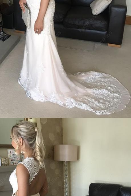 2019 Mermaid Prom Dresses Long, Lace Formal Dresses, Bridal Dress,Wedding Party Dresses,8121503